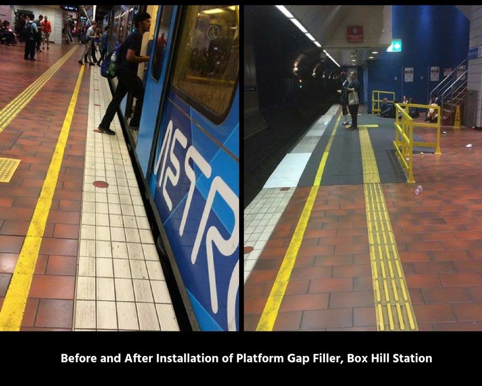 Installation of Platform Gap FillerBox Hill Station